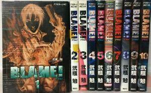 BLAME!  Japanese language  vol. 1-10 Complete Full set Manga Comics