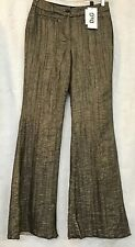 D & G Dolce Gabbana Pants Black With Gold Glitter Wide Leg Nwt Size 46