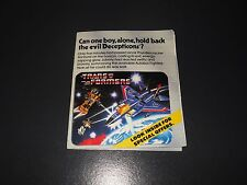 transformers g1 original vintage mail away brochure catalogue