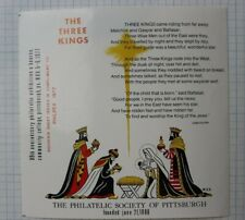 Philpex 1977 3 Kings Pittsburgh Pa Christmas Expo Philatelic Souvenir Ad Label