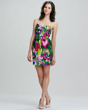 Nwt $350 Shoshanna Saks Fifth Ave Women's Julianne strapless printed Dress sz 6
