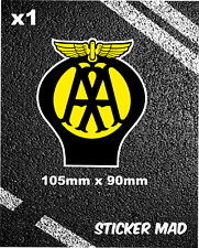 AA Badge classic Sticker Garage Car Motorhome van breakdown services recovery