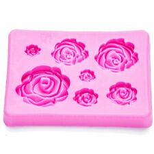 Roses Shaped fondant silicone rubber moulds for mastic confectionery accessories