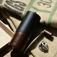 New! Manual Coffee Grinder Mini Hand Stainless Steel Burr Portable Travel Campin
