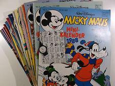 AUSWAHL = Micky Maus Comic Hefte 1988 Nr. 1 - 52 mit / ohne Beilagen