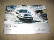 Mercedes Sprinter recuadro carro folleto brochure de 9/2012, 52 páginas