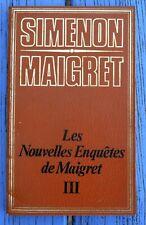 G. Simenon, coll. Maigret, Les nouvelles enquêtes de Maigret III, ES Editions