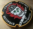 Fire Department Syracuse Engine 5 3D routed wood plaque patch sign Custom