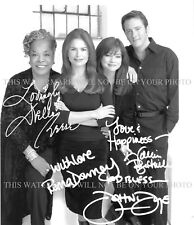TOUCHED BY AN ANGEL CAST SIGNED 8x10 RP PHOTO DELLA REESE ROMA DOWNEY BERTINELLI