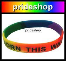 Born This Way Rainbow Wristband Gay Lesbian Pride Wrist Band #313