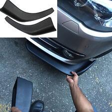 Pair Universal Bumper Spoiler Car Front Corner Wing Scratch Resistant Guard Trim