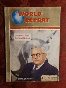 WORLD REPORT magazine August 15 1946 Herbert V. Evart Australia WWII Peace