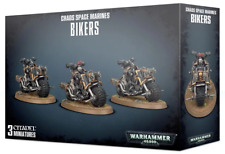 Warhammer 40K Chaos Space Marine Bikers 3 Heretic Legion Marine Biker Bikes
