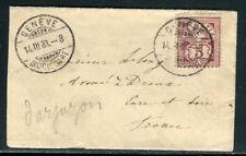 Suisse - Enveloppe de Genève pour la France en 1883 - ref D226