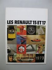 Renault 15 17 brochure depliant Prospekt French langue française 24 pages 1973