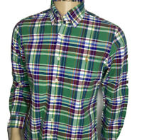 Polo Ralph Lauren Shirt Plaid Checks Long Sleeve Oxford Pony Green Men Sz S