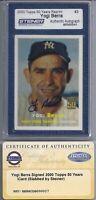 Yogi Berra Signed 2000 Topps Archives 1957  - Steiner