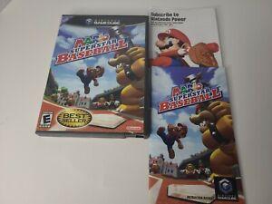 Mario Superstar Baseball (Nintendo GameCube, 2005) Case Manual **NO GAME DISC**