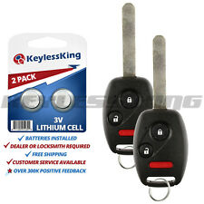 2 Replacement Remote Key Fob for Honda Odyssey Ridgeline Fit oucg8d-380h-a