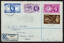KGVI FDC 10/10/1949 registered Melbourne Derby First Day Cover 1949