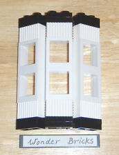 Lego Window Bay for Sculpture Buildings White 10185 Clear Pane Frame