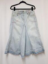 Womens Next Jeans Since 1982 Denim Skirt Size 10 Jeans Skirt A-Line Fray-hem A11