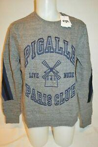 ELEVEN PARIS Man's PIGALLE PARIS CLUB Sweatshirt NEW Size X-Large Retail $170
