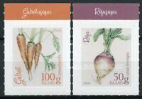 Iceland Plants Stamps 2020 MNH Garden Vegetables Carrots Beets Nature 2v S/A Set
