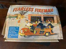 1950/'s hasbro fearless fireman game and toy in box 10311