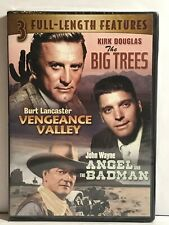 Big Trees Vengeance Valley Angel and the Badman 3 Movies in 1 DVD Free Shipping