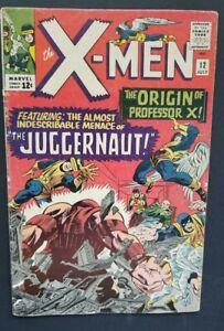 X-MEN #12 • 1ST JUGGERNAUT • ORIGIN PROF X • VG/FN OR BETTER