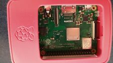 Raspberry Pi 3 Model B+ module in Official Raspberry Pi White Case +16GB microSD