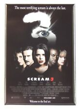 Scream 3 Fridge Magnet (2.5 x 3.5 inches) movie poster
