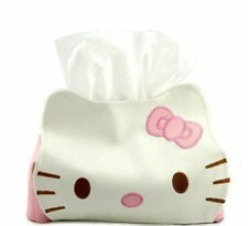 Hello Kitty Leather facial Tissue Napkin Paper Home Box Case Holder Cute Gift