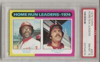 1975 TOPPS #307 HOME RUN LEADERS, PSA 8 NM-MT, MIKE SCHMIDT / DICK ALLEN,  L@@K