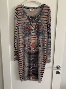 Jean Paul Gaultier For Lindex Nude Tattto dress Size LARGE