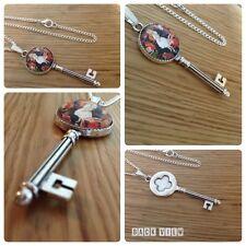 Alice in Wonderland vintage style Alice tea party key necklace