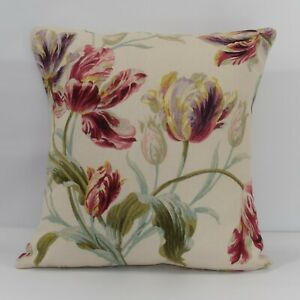 Handmade Cushion Cover in Laura Ashley Gosford Cranberry  Same Fabric Both Sides