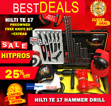Hilti Te 17 Hammer Drill Lk Preowned Free Knife Set Extras Fast Ship