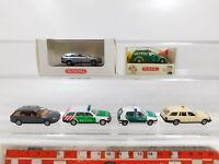 CG374-0,5# 6x Wiking H0/1:87 PKW: Audi + Opel + VW/MB Polizei + Taxi, NEUW