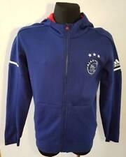 AJAX AMSTERDAM HOLLAND  adidas Soccer Training Track Jacket Larg blue Zip BLUE