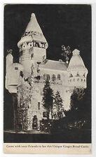 Ginger Bread Castle National Biscuit Co Hamburg New Jersey 1933 postcard