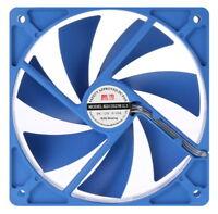 [COOLERTEC] 120mm Blue Silent Case Fan, 3PIN, 4PIN, 800RPM, CT-KD12025R-3P4P