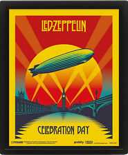 Led Zeppelin - Celebration Day - fertig gerahmtes 3D Poster - 20x25