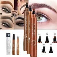 4 Points Eyebrow Pencil Eyebrow Pen Waterproof Fork Tip Liquid Eyebrow