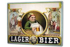 Blechschild XXL Bier Retro  Lager Bier nostalgisch Partykeller Fun