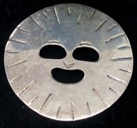 Vintage Sterling Silver Brooch Pin 925 Face Mexico Artisan