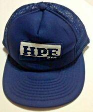 New listing Vintage SnapBack Trucker Hat Patch Hpe Mfg Cap Mesh Blue Speedway Brand Classic!
