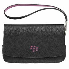Genuine Blackberry Torch (9800) Folio (Black) (Pink Stitching & Emblem)