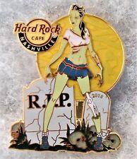 HARD ROCK CAFE NASHVILLE SEXY GREEN ZOMBIE GIRL TOMBSTONES & SKULLS PIN # 525917